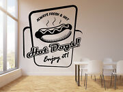 Vinyl Wall Decal Fast Food Hot Dog Cooking Cafe Truck Kitchen Stickers G2394