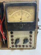 Radio City Products Model 450a Tester Wooden Box Vintage Multimeter