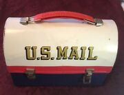 Vintage 1960's Aladdin Us Mail Metal Lunchbox With Thermos - Rare