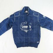 Lowes Team Racing Nascar Womens Chase Authentics Pit Stop Jacket Large Blue