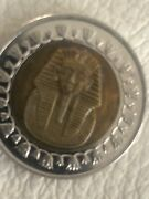 Middle East Egyptian 1 Pound Sphinx Coin Golden And Nickel Alloy 2005.