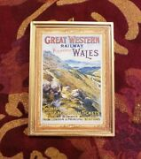 Great Western Railway Wales Vintage Poster Art Christmas Ornament/dhm/wall Train