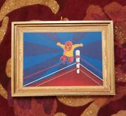 Fun Wrestler In The Ring Christmas Ornament/magnet/dhm/wall Art/tabletop Decor