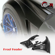 For Nissan 370z Z34 09-17 Vrs Style Carbon + Frp Front Fender Mudguards Bodykits