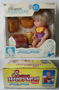 Vintage 1998 Mc Donalds Happy Meal Girl Eating Doll + My Little Pony Gift New