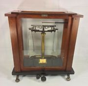 Antique Volanda And Sons Scale Metal Base Missing Top Glass New Rochelle Ny