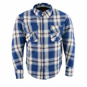 Milwaukee Performance Menand039s Blue White And Maroon Long Sleeve Flannelmpm1645