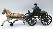 Vintage Toys Fire Chief, Cast Iron Horse Carriage