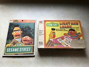 Sesame Street Light And Learn Game 1977 And Ernie And Bert 1977 Puzzle Whitman Lot