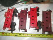 Lionel 6007, 6017, 6017, 6057 Cabooses For Junk Or Parts.