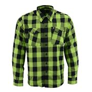 Nexgen Menand039s Black And Green Checkered Button Front Flannel Shirtmng11632