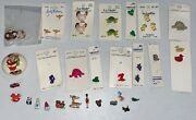 Vintage Lot Of Novelty Buttons On Cards And Loose Collectors Estate