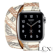 Apple Watch Hermandegraves Series 6 40mm Blanc Swift Allover Print Double Tour