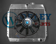 3 Row Aluminum Radiator And Fan For 1949 1950 1951 1952 1953 1954 Chevy Cars V8