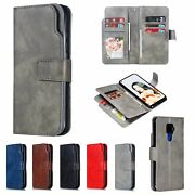 10pcs/lot Photo Framd 9-card Wallet Holster Leather Case For Iphone Samsung
