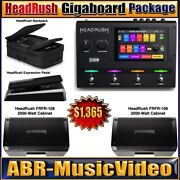 Headrush Gigaboard, Expression Pedal, Backpack And 2 Frfr-108 Powered Speakers