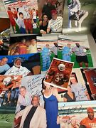 Huge Football Sports Photo Signed Autographed Lot Rose Mccoy Williams Campbell