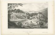 Antique Print Of A Chinese Cemetery By Dand039urville 1833