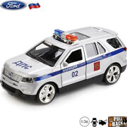 Ford Explorer Russian Police Scale 136 Diecast Car Crossover Suv Model Toy Cars