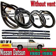 For Datsun 720long No Vent Pickup Weather Strip Rubber Complete Set Seal X8