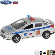 Diecast Cars Scale 136 Ford Focus Sedan Russian Police Metal Model Toy Cars