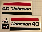1970and039s Era Johnson Outboard 40 Hp 50 Hp 55 Hp 60 Hp Decal Set Generic