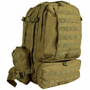 3 Day Marines Usmc Army Desert Tan Brown Military Backpack Pack Usa Flag