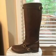Collection Tall Brown Leather Equestrian Riding Boots Size 8.5 Very