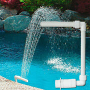 Swimming Pools Spa Fountain Decor Above Ground Waterfall Water Spay Head Tube