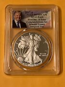 2017 S Silver Eagle Congratulations Pr70 Dcam First Day Of Issue Trump