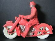 Vintage Harley Davidson Policeman Cop Rubber Motorcycle Toy Reliable Co. 258
