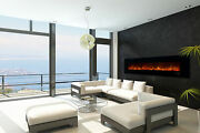 Modern Flames 100 Ambiance Clx2 Wall Mount Linear Electric Fireplace With Media