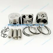 New D905 Piston Kit And Rings Std For Kubota D905e B905b Engine 3 Cylinders
