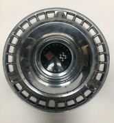 Vintage Chevrolet Hubcap With Rally Crossed Red And White Flags Man Cave