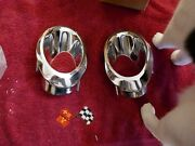 Corvette C2 Nos/new 1966-67 Rear Exhaust Bezels Left And Right 3892225-26