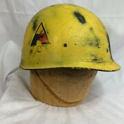 Wwii M-1 Helmet Msa Liner Armor Painted With Decals