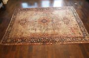 Antique Tribal Geometric Area Rug Hand-knotted Oriental 11and0396 X 8and0396