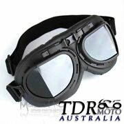 Retro Motorcycle Goggles Glasses Scooter Pilot Vintage Helmet Eyewear For Harley