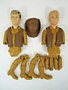 Vintage 1960's Marx Johnny West Best Of The West Jamie And Jay Broken Parts
