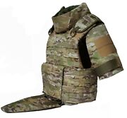 Large Multicam Full Body Armor Plate Carrier Molle Tactical Vest 3a Kevlarr Incl