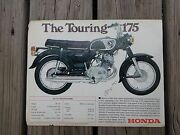 1969 Honda The Touring 175 Motorcycle Ad Advertisement Flyer Brochure