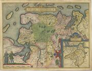 Antique Map Of Ostfriesland By Ortelius C.1595