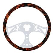 18 Flame Designer Steering Wheel With Hydro-dip Finish Wood - Lady