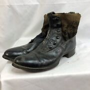Original French 1870-1890 Ww1 Army Boots Shoes Size 9.5