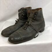 Original French Ww1 Army Boots Shoes Size 9