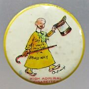 1896 Outcault's Yellow Kid 6 Comic Strip Character Solid Back Pinback Button