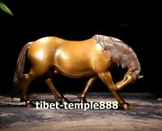 Pure Bronze Lucky Chinese Zodiac Wealth Fengshui Animal Beast Horse Steed Statue