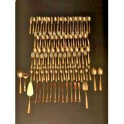 Vintage Stainless Goldware Flatware Set Service12 People/114 Pieces