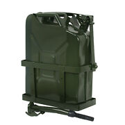 Jerry Can 5 Gallon 20l Gas Gasoline Fuel Army Backup Metal Steel Tank Holder