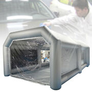 20x10x8 Ft Inflatable Tent Car Spray Paint Booth Painting House Cover W/ Window